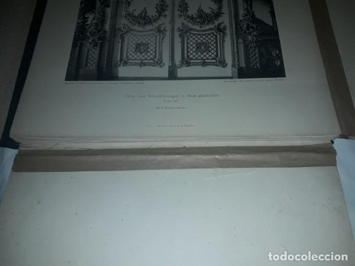 Coleccionismo: Antiguo libro 60 Laminas Die Dekorative Ornamentik Des Königl Schlosses Herrenchiemsee 42x31.5cm - Foto 4 - 191390102