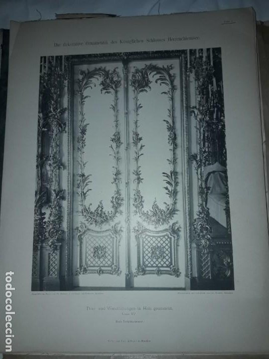 Coleccionismo: Antiguo libro 60 Laminas Die Dekorative Ornamentik Des Königl Schlosses Herrenchiemsee 42x31.5cm - Foto 10 - 191390102