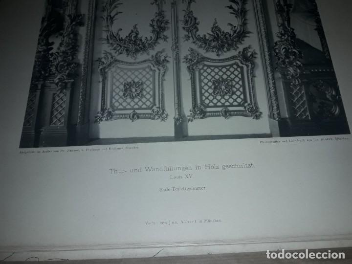 Coleccionismo: Antiguo libro 60 Laminas Die Dekorative Ornamentik Des Königl Schlosses Herrenchiemsee 42x31.5cm - Foto 11 - 191390102