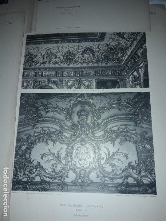 Coleccionismo: Antiguo libro 60 Laminas Die Dekorative Ornamentik Des Königl Schlosses Herrenchiemsee 42x31.5cm - Foto 12 - 191390102