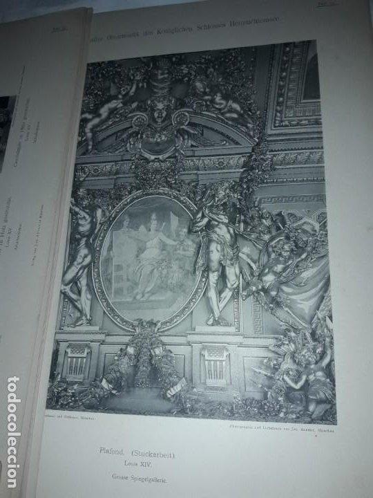 Coleccionismo: Antiguo libro 60 Laminas Die Dekorative Ornamentik Des Königl Schlosses Herrenchiemsee 42x31.5cm - Foto 13 - 191390102