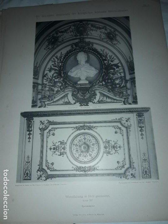 Coleccionismo: Antiguo libro 60 Laminas Die Dekorative Ornamentik Des Königl Schlosses Herrenchiemsee 42x31.5cm - Foto 17 - 191390102