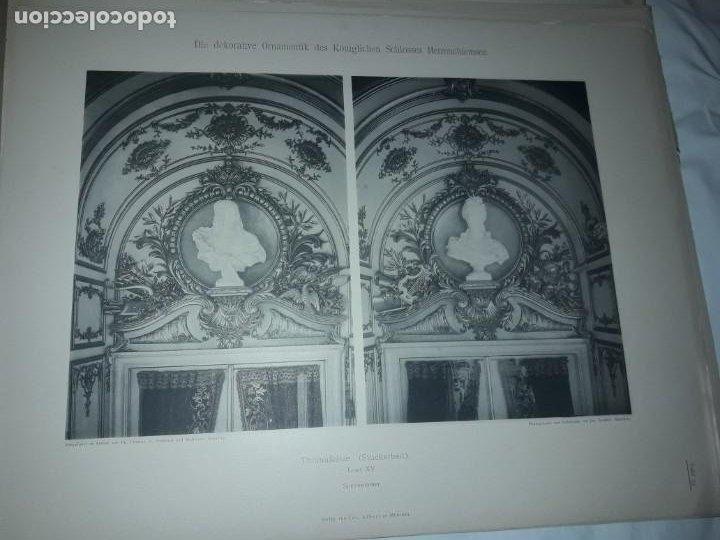 Coleccionismo: Antiguo libro 60 Laminas Die Dekorative Ornamentik Des Königl Schlosses Herrenchiemsee 42x31.5cm - Foto 18 - 191390102