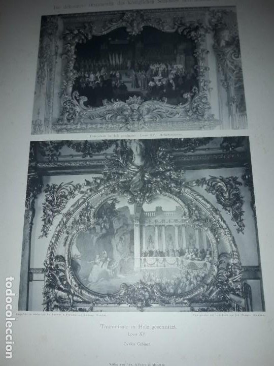 Coleccionismo: Antiguo libro 60 Laminas Die Dekorative Ornamentik Des Königl Schlosses Herrenchiemsee 42x31.5cm - Foto 20 - 191390102