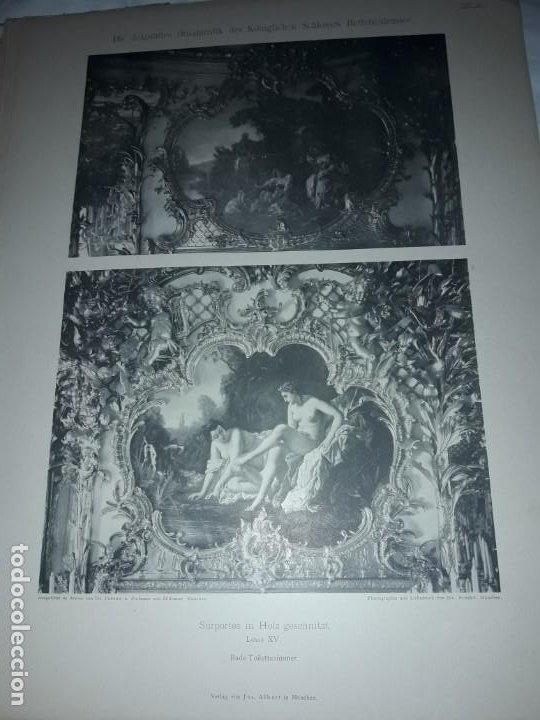 Coleccionismo: Antiguo libro 60 Laminas Die Dekorative Ornamentik Des Königl Schlosses Herrenchiemsee 42x31.5cm - Foto 21 - 191390102