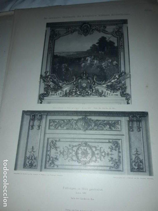 Coleccionismo: Antiguo libro 60 Laminas Die Dekorative Ornamentik Des Königl Schlosses Herrenchiemsee 42x31.5cm - Foto 22 - 191390102