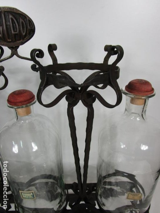Coleccionismo: Perfumes Anglada, Barcelona - Precioso Soporte Modernista - Botellas Cristal con Grifo - Años 20 - Foto 31 - 191483196