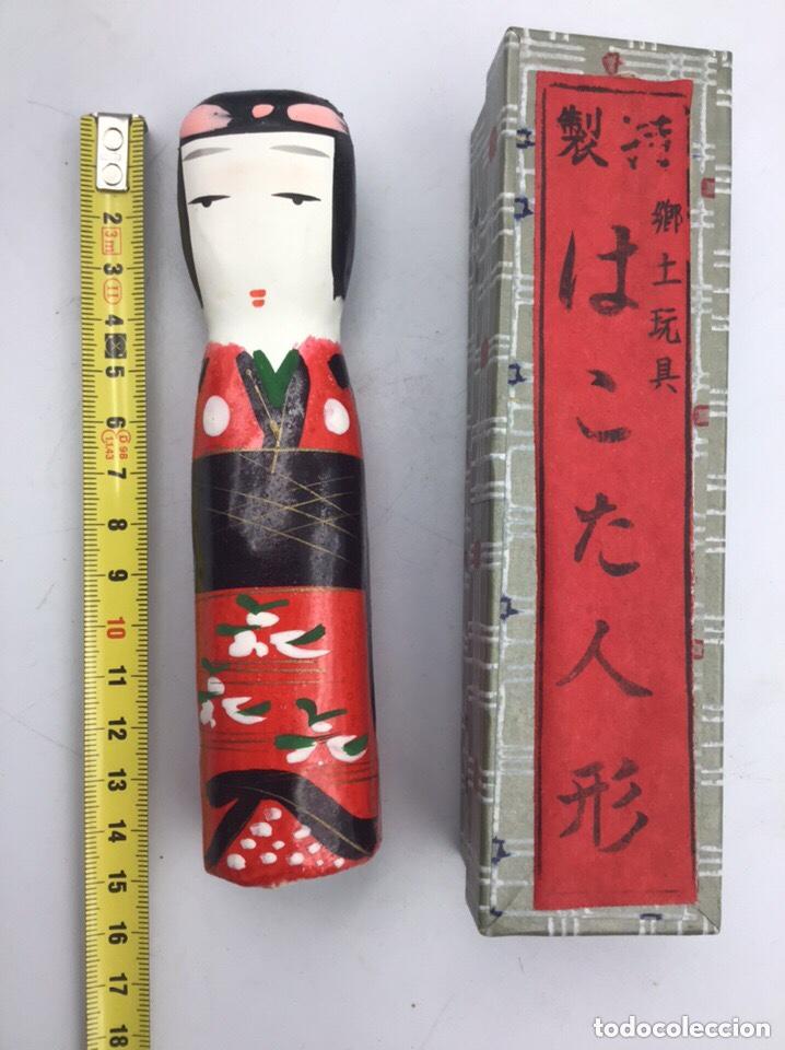 Coleccionismo: Figura de Geisha en Papel Mache hecha y pintada a mano - Foto 3 - 191786392