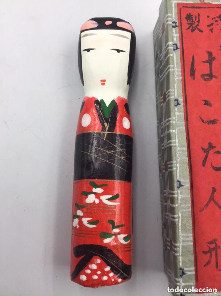 Coleccionismo: Figura de Geisha en Papel Mache hecha y pintada a mano - Foto 4 - 191786392