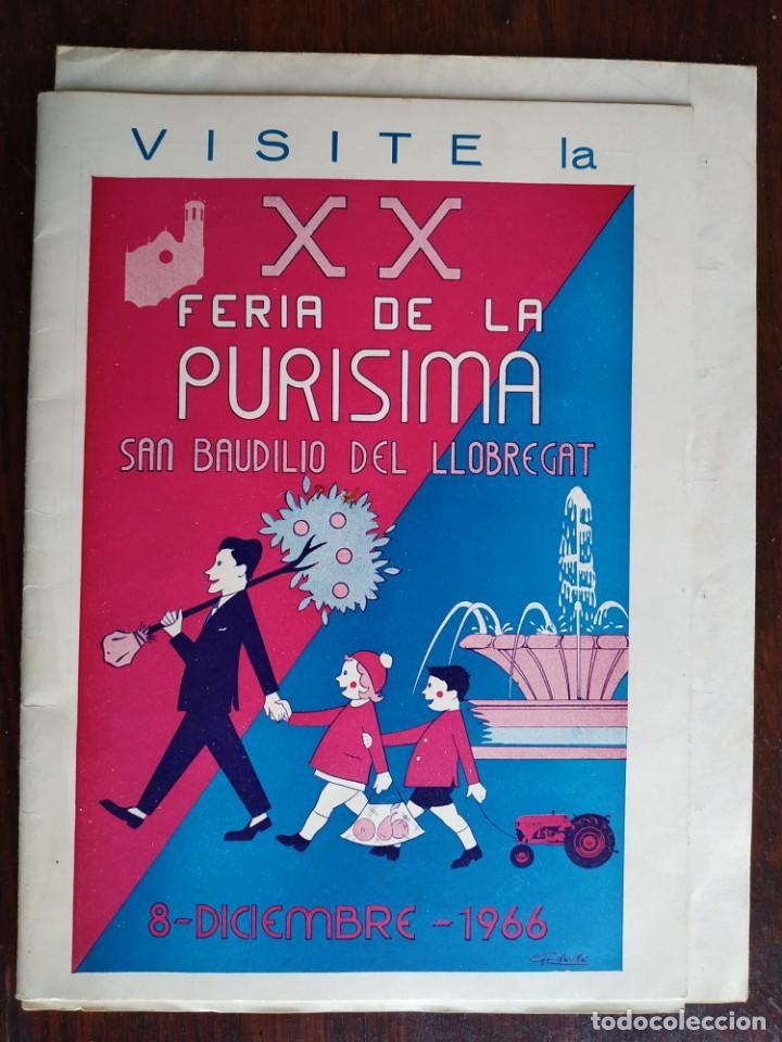 Coleccionismo: Programa de mano de la XX edición de la Fira de la Purissima en Sant Boi de Llobregat 1966 - Foto 2 - 191930268