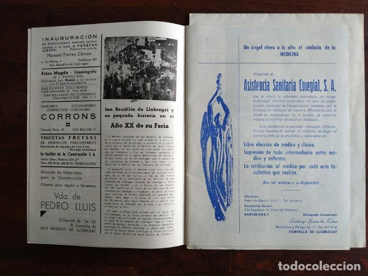Coleccionismo: Programa de mano de la XX edición de la Fira de la Purissima en Sant Boi de Llobregat 1966 - Foto 4 - 191930268