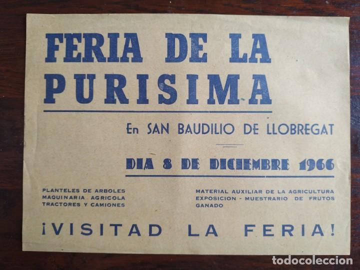 Coleccionismo: Programa de mano de la XX edición de la Fira de la Purissima en Sant Boi de Llobregat 1966 - Foto 5 - 191930268