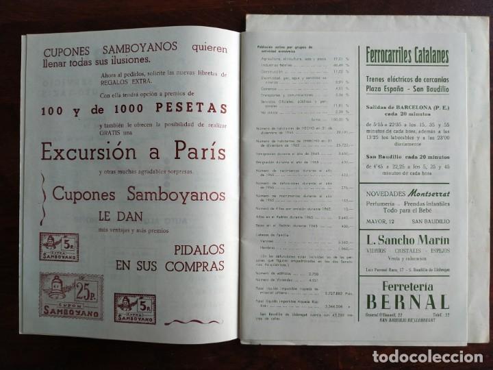 Coleccionismo: Programa de mano de la XX edición de la Fira de la Purissima en Sant Boi de Llobregat 1966 - Foto 6 - 191930268