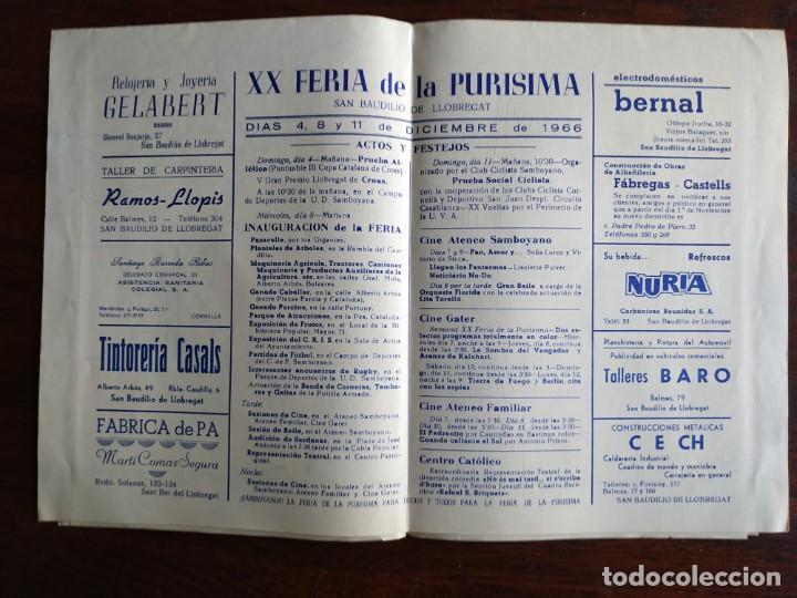 Coleccionismo: Programa de mano de la XX edición de la Fira de la Purissima en Sant Boi de Llobregat 1966 - Foto 8 - 191930268
