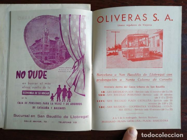Coleccionismo: Programa de mano de la XX edición de la Fira de la Purissima en Sant Boi de Llobregat 1966 - Foto 11 - 191930268