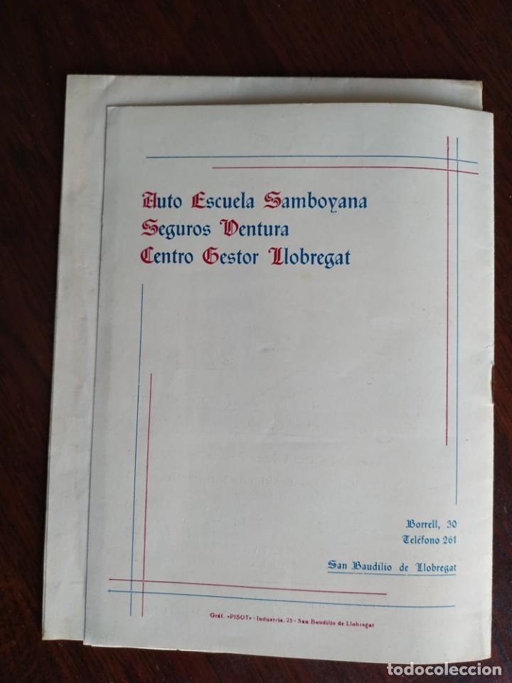 Coleccionismo: Programa de mano de la XX edición de la Fira de la Purissima en Sant Boi de Llobregat 1966 - Foto 12 - 191930268