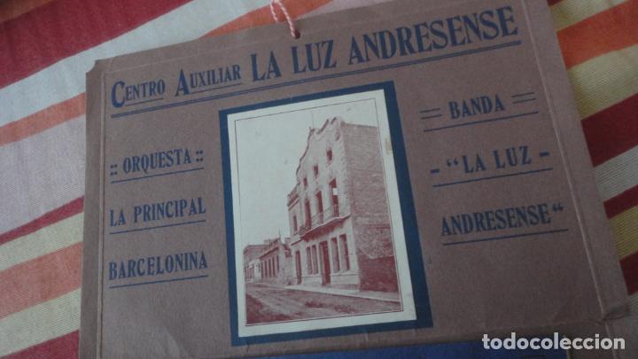 Coleccionismo: PROGRAMA.CENTRO LUZ ANDRESENSE.FIESTA MAYOR.ORQUESTA PRINCIPAL BARCELONINA.1919 SAN ANDRES PALOMAR? - Foto 2 - 191934321