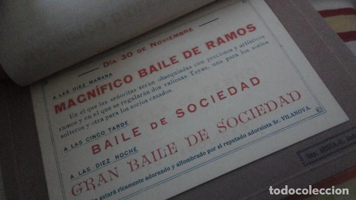 Coleccionismo: PROGRAMA.CENTRO LUZ ANDRESENSE.FIESTA MAYOR.ORQUESTA PRINCIPAL BARCELONINA.1919 SAN ANDRES PALOMAR? - Foto 5 - 191934321