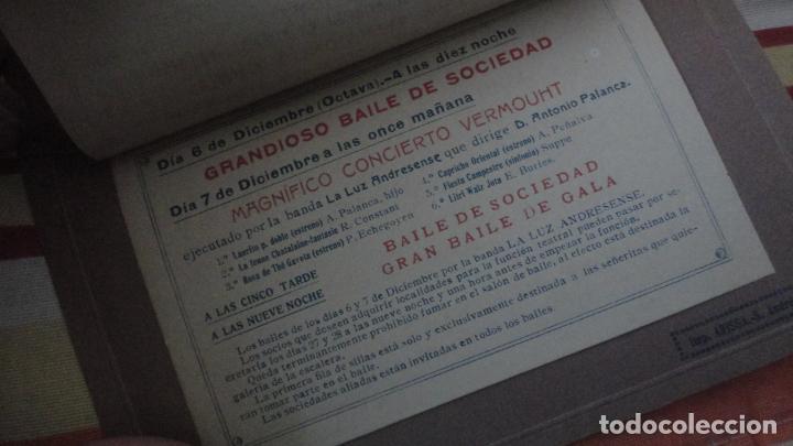 Coleccionismo: PROGRAMA.CENTRO LUZ ANDRESENSE.FIESTA MAYOR.ORQUESTA PRINCIPAL BARCELONINA.1919 SAN ANDRES PALOMAR? - Foto 7 - 191934321