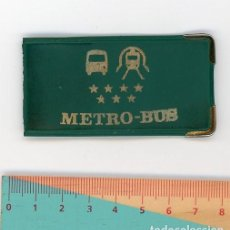 Coleccionismo: TARJETERO PARA TICKET DE METRO BUS O METRO-BUS MADRID AÑOS 80. LE FALTA LA MITAD. Lote 191951052