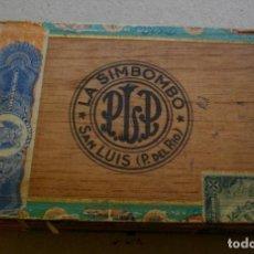 Coleccionismo: CAJA DE PUROS HABANOS CUBA LA SIMBOMBO ( 25 PREDILECTOS ) VACIA/PRE-- EMBARGO. Lote 192056781
