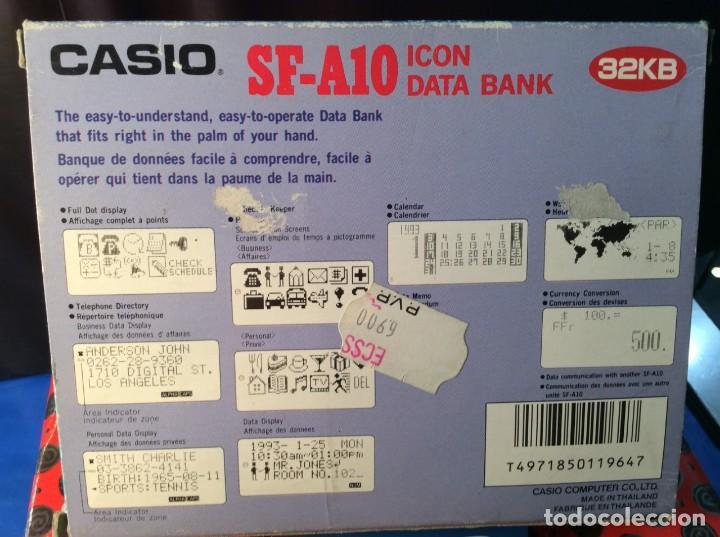 Coleccionismo: 2 !!!!! CALCULADORAS AGENDAS CASIO SF 4650 Y SF A10 !! VINTAGE ¡¡ MAL !! VER FOTOS. - Foto 10 - 192192283