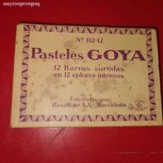 Coleccionismo: ANTIGUA CAJA DE LAPICES PASTEL GOYA Nº 112/12. FABRICADOS PO RHASSINGER . Lote 192223833