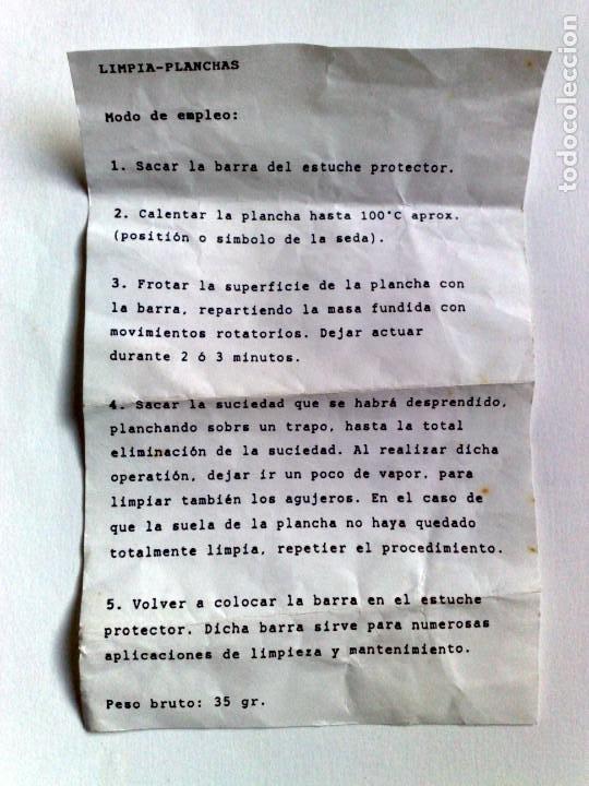 Coleccionismo: STICK DE LIMPIEZA PARA PULIR PLANCHAS Y HIERRO,NUEVO-SIN USAR. - Foto 3 - 192704160