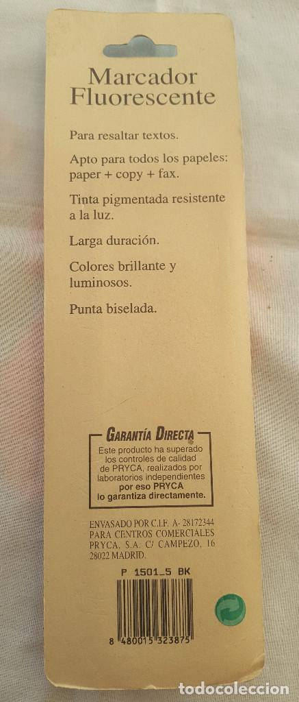 Coleccionismo: ANTIGUO MARCADOR FLUORESCENTE VERDE DE PRYCA. SIN ESTRENAR. EN SU EMBALAJE ORIGINAL - Foto 2 - 192724361