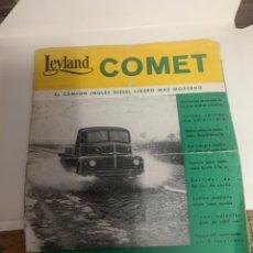 Coleccionismo: CATÁLOGO DE CAMION COMET. Lote 192740961