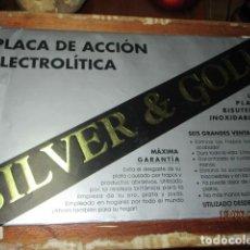 Coleccionismo: PLACA ACCION ELECTROLITICA PARA PLATA Y ORO CON SU FUNDA COMPLETO. Lote 192953056