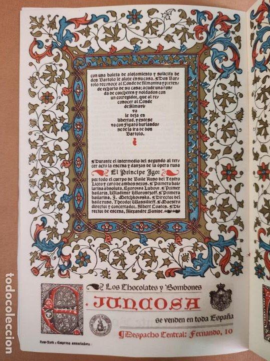 Coleccionismo: Libreto DE LITOGRAFIA EXCELENTE, ÓPERA - EL BARBERO DE SEVILLA - de ROSSINI, 1923 - Foto 8 - 193230588