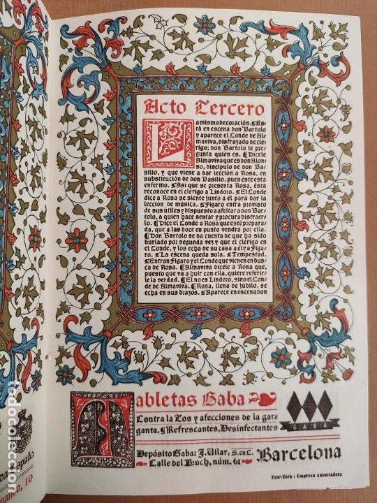Coleccionismo: Libreto DE LITOGRAFIA EXCELENTE, ÓPERA - EL BARBERO DE SEVILLA - de ROSSINI, 1923 - Foto 9 - 193230588