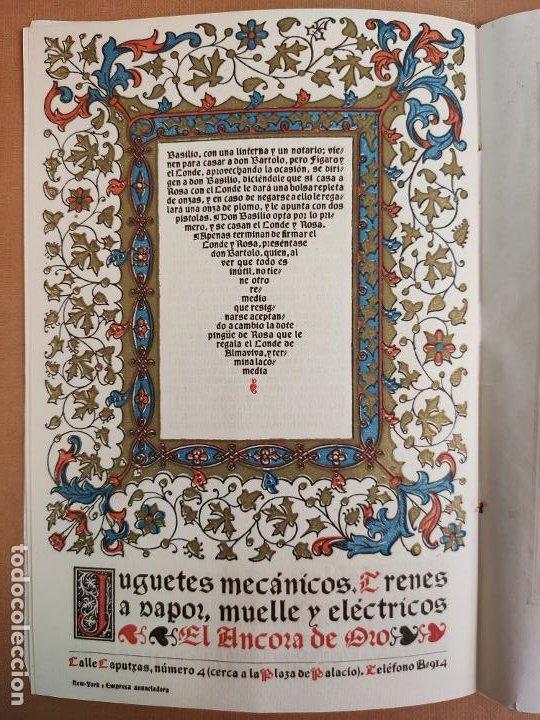 Coleccionismo: Libreto DE LITOGRAFIA EXCELENTE, ÓPERA - EL BARBERO DE SEVILLA - de ROSSINI, 1923 - Foto 10 - 193230588