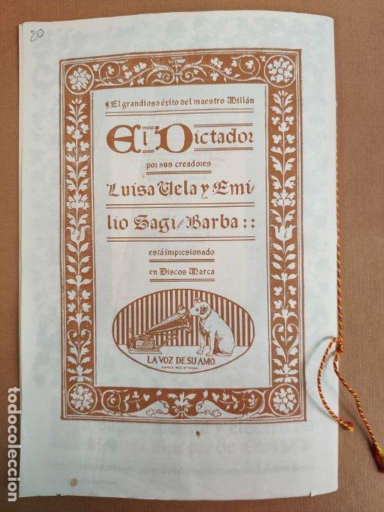 Coleccionismo: Libreto DE LITOGRAFIA EXCELENTE, ÓPERA - EL BARBERO DE SEVILLA - de ROSSINI, 1923 - Foto 11 - 193230588