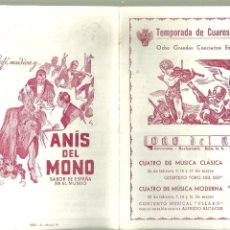 Colecionismo: C1.- ORO DEL RIN CERVECERIA-COÑAC OSBORNE-ANIS DEL MONO-FREIXENET - PROGRAMA DE MUSICA CUARESMA /47. Lote 193623958
