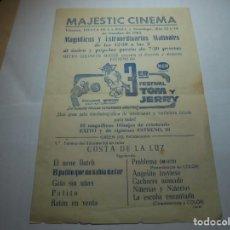 Coleccionismo: MAGNIFICO PROGRAMA DE VILAFRANCA DEL PENEDES MAJESTIC CINEMA DEL 1962. Lote 193777826