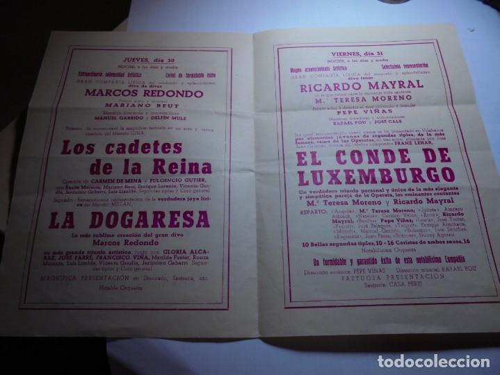 Coleccionismo: magnifico programa de vilafranca del panedes gran teatro casal de la principal fiesta mayor 1945 - Foto 2 - 193777977