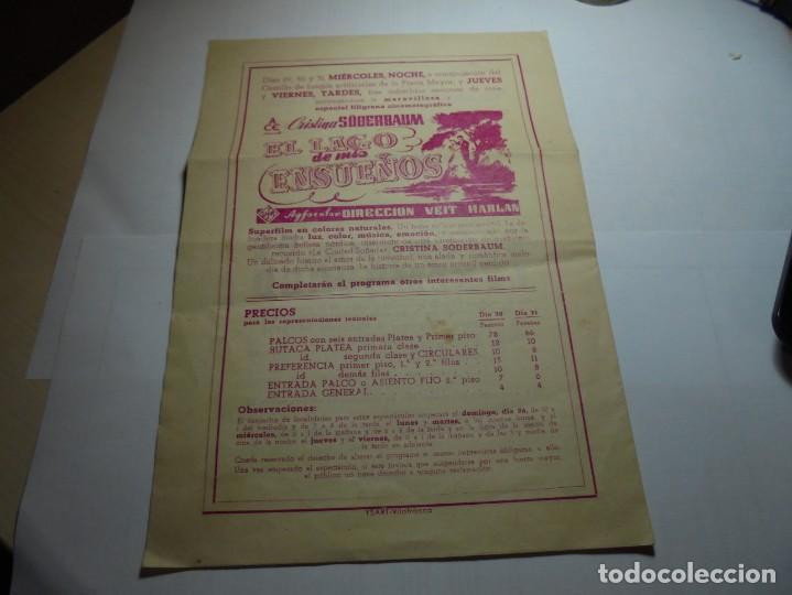 Coleccionismo: magnifico programa de vilafranca del panedes gran teatro casal de la principal fiesta mayor 1945 - Foto 3 - 193777977