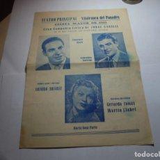 Coleccionismo: MAGNIFICO PROGRAMA DE VILAFRANCA DEL PANEDES GRAN TEATRO PRINCIPAL FIESTA MAYOR 1945. Lote 193778061