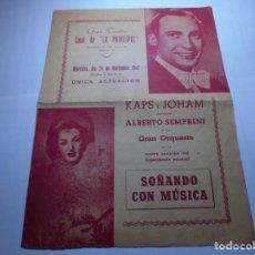 Coleccionismo: MAGNIFICO PROGRAMA DE VILAFRANCA DEL PANEDES GRAN TEATRO CASAL DE LA PRINCIPAL 1947. Lote 193778542