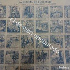 Coleccionismo: AUCA/ALELUYA. LA GUERRA DE SUCCESSIÓ O LA PÉRDUA DE LES LLIBERTATS CATALANES. Lote 194027415