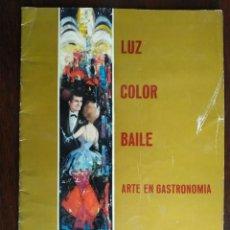 Coleccionismo: RESTAURANTE LA PERGOLA, REVISTA DEL ANTIGUO RESTAURANTE DELANTE DE LA FONT MAGICA EN MONTJUIC, BCN. Lote 194150171