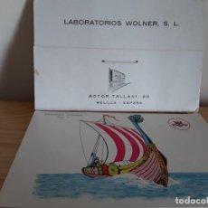 Coleccionismo: LÁMINAS BARCOS LABORATORIOS WOLNER . Lote 194151602