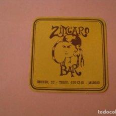 Coleccionismo: POSAVASOS BAR ZINGARO. MADRID.. Lote 194229891