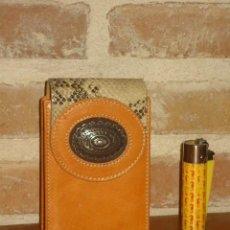 Coleccionismo: PITILLERA DE PIEL.. Lote 194235502