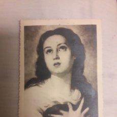 Coleccionismo: ANTIGUA ESTAMPA RELIGIOSA VIRGEN. Lote 194236096