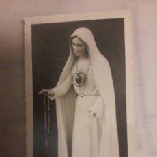 Coleccionismo: ESTAMPA MUY ANTIGUA RELIGIOSA VIRGEN DE FATIMA. Lote 194236437