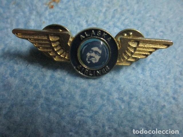AVIACION ALASKA AIRLINES INSIGNIA PIN MEDIDAS 5 CMS (Coleccionismo - Varios)