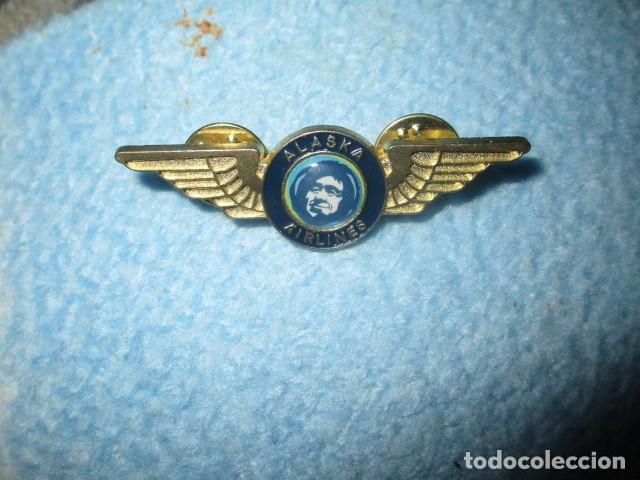Coleccionismo: aviacion alaska airlines insignia pin medidas 5 cms - Foto 3 - 194237531